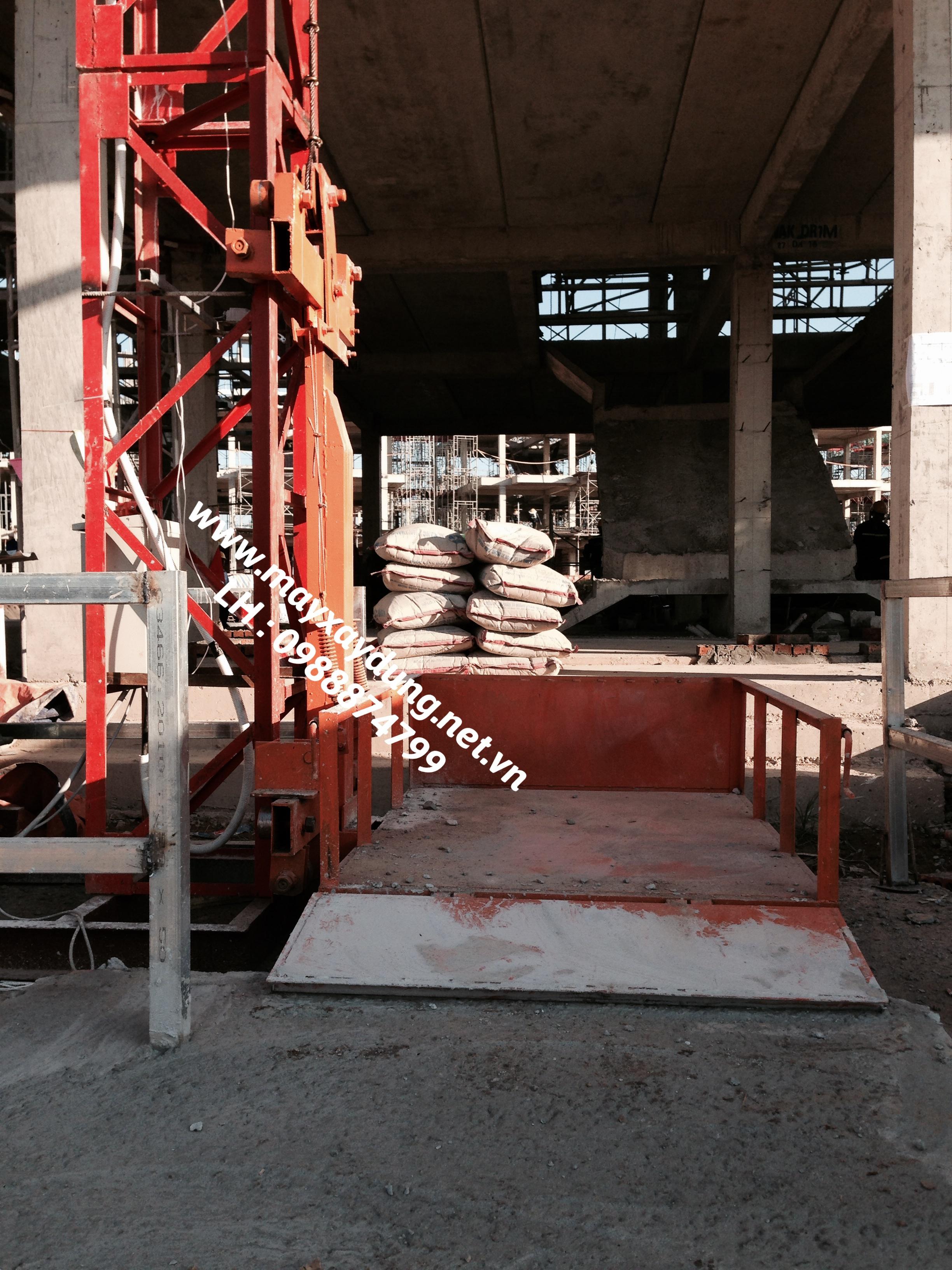 Máy cắt sắt, máy uốn sắt, máy trộn bê tông, vận thăng nâng hàng, tời kéo mặt đất, palang xich - hãng